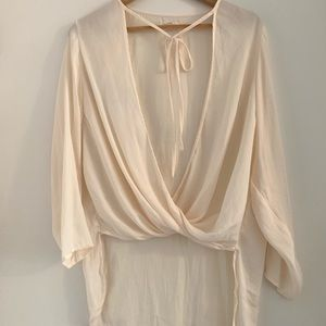 Silence + Noise Cream Blouse